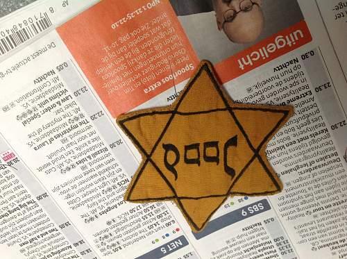 """Dutch Jewish star """"Jood"""""""