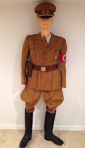 Political leader uniform set
