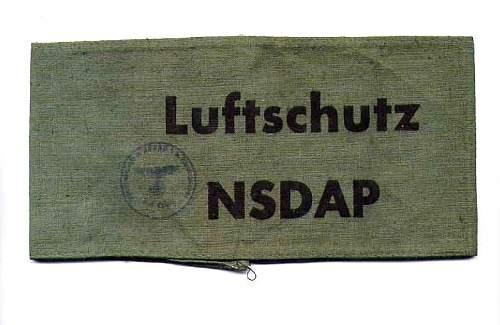 Luftschutz NSDAP armband