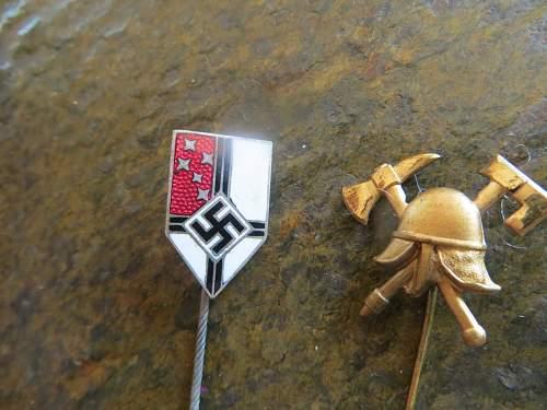 A couple stick pins