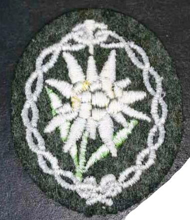Edelweiss Cloth Badge