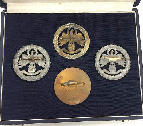 4 Cased Small Caliber Shooting Medals