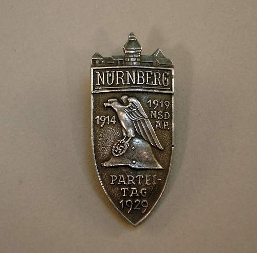 NSDAP Parteitag Day Pin Need Opinions Please
