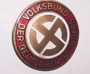 German Peoples Movement in Hungary Member Badge