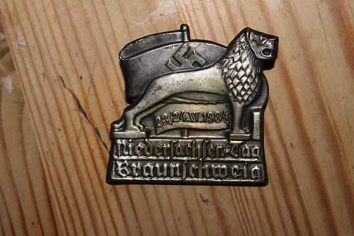 Niedersachsen-tag Braunschweig 1934 tinnie