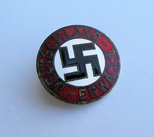 maker of this enamel NSDAP pin question