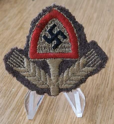 RAD cap badge