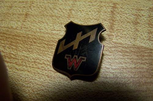 Unique Small Black Badge for Der Jungwehrwolf Wehrband