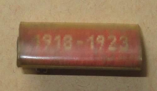Interesting 1918-1923 Clasp