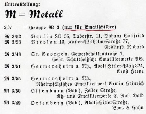 Die Haustafel der NSDAP Enamel Sign