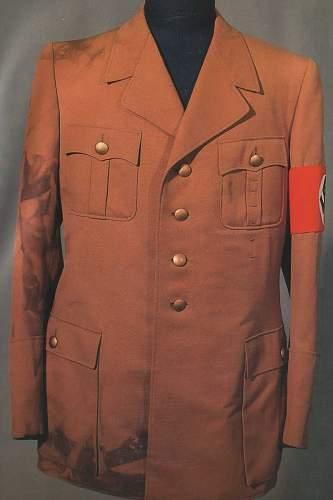 Hitler's brown tunics