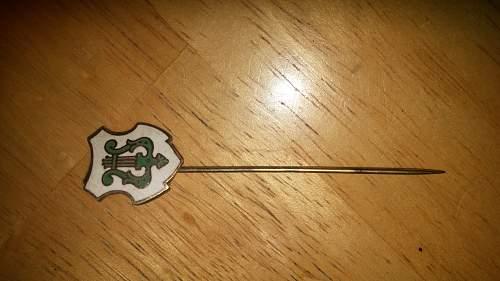 German stickpin identification