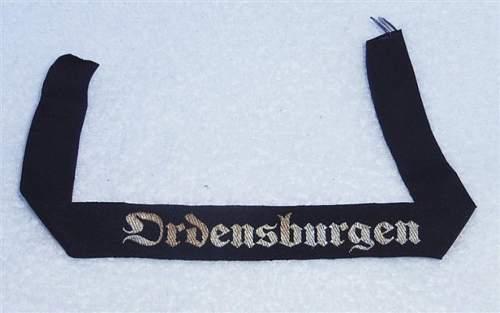 Ordensburgen Cuff title