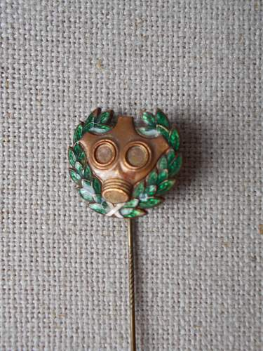 unknown gasmask stick pin, help needed
