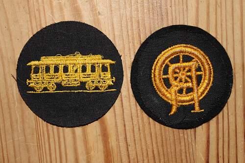 original Reichsbahn trade patches?