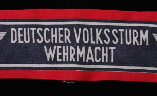 Deutscher Volkssturm Wehrmacht Armband real or fake