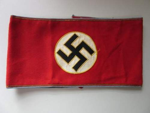 Ortsgruppe Political Leader Candidate Armband