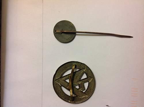 Sa stickpin     SS pin.    Depressing