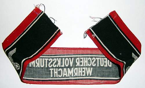 Click image for larger version.  Name:Volkssturm armband reverse..jpg Views:481 Size:83.9 KB ID:96415