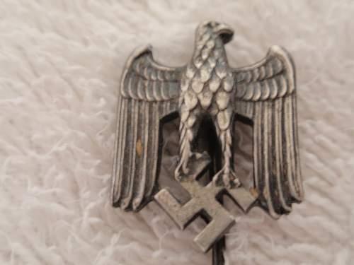 "stickpin  Eagle- Swastika ""metallic"""