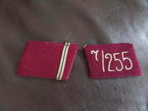 SA Gruppe Westfahlen collar patches