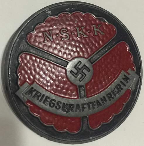 NSKK badge question