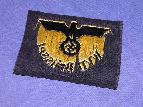 WVD arm badge