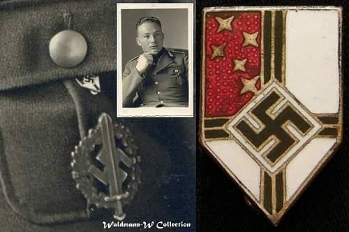 Colonial Union Enameled Membership Stick Pin