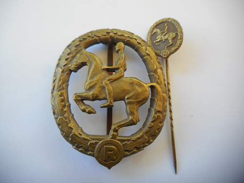German Horsemans badge and stickpin