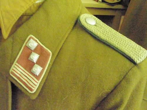 Uniforms of Hauptsturmfuhrer Hans Steiner