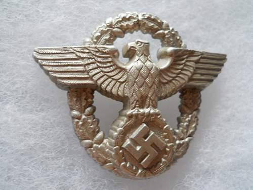 Police cap eagle for review