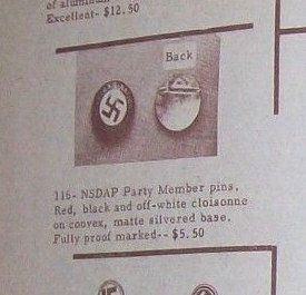 """""""Original"""" Reproductions - Police Disk and Party Pin"""