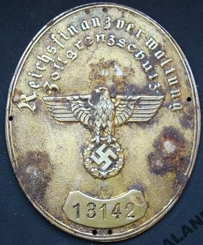 Zollgrenzschutz  - Customs Arm Badge