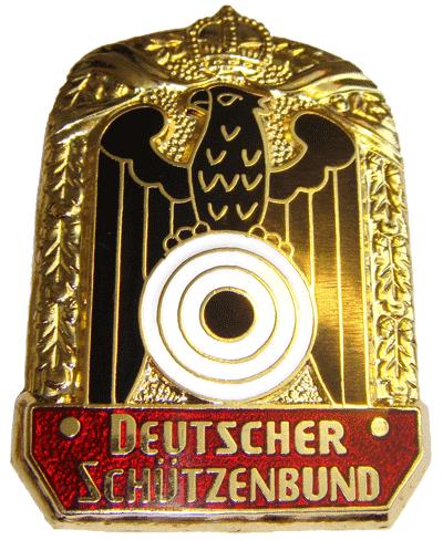 WW I Imperial German Deutsche Schutzenbund Luftgewehr  marksmanship enamel pin badge