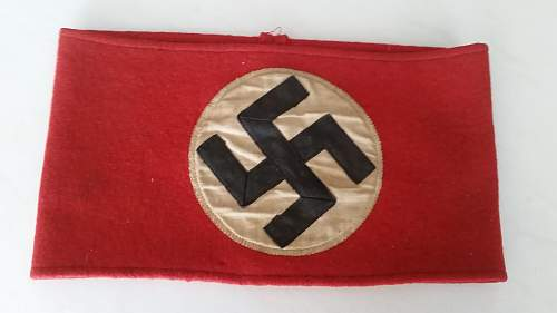 hello friends please opinions and help with this german arm band original o fake??????