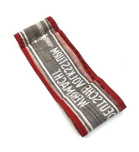 BEFORE BUYING ! Deutscher Volkssturm Wehrmacht Armband