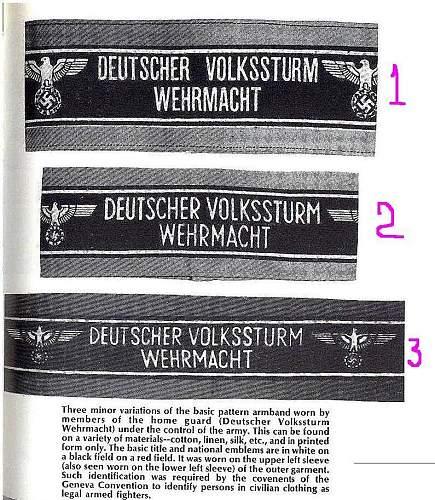 Volkssturm armband - real or fake?
