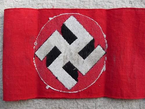 Luftwaffe stamped armband