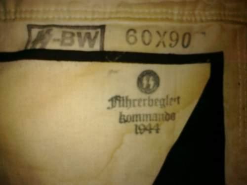 NSDAP armband and an SS flag - genuine?