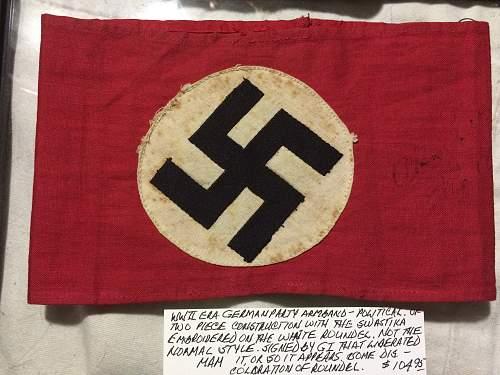 ww2 nazi political armband real or fake?