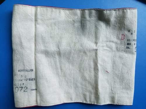Odd Stamp on NSDAP armband