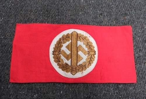 NSDAP SA Armband: Real or Fake?