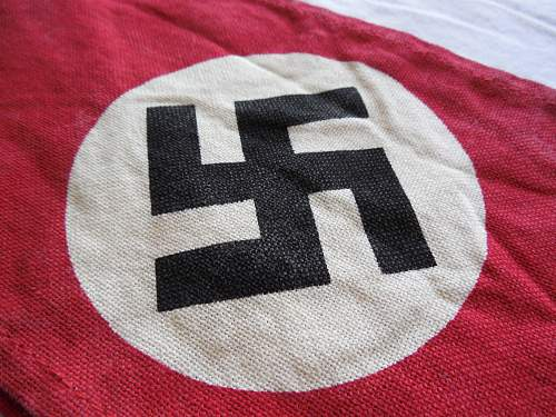 Nice example of a late in the war all printed cotton NSDAP armband (Kampfbinde)