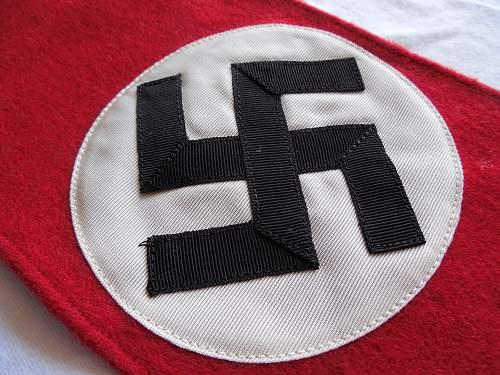 Nice example of a three peice NSDAP wool armband (Kampfbinde)