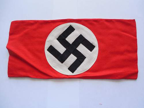 My New NSDAP/SA Cotton 3 peice Armband.