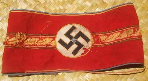 Two Nazi armbands