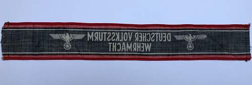 Deutscher Volkssturm Wehrmacht armband - WW2 original?