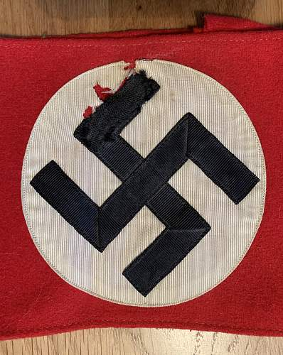 Can anybody tell me anything about this NSDAP Wool Armband/kampfbinde