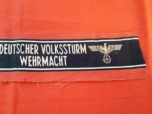 Deutscher Volkssturm Wehrmacht Armband - Left Undecided