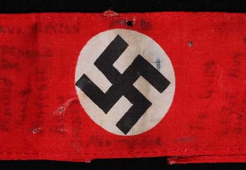 Vet bring back NSDAP Partei-Bereitschaft Cufftitle with written history all over it....